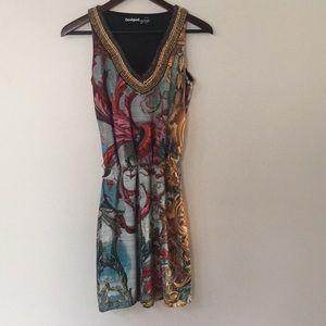 Beaded, Sleeveless Desigual dress